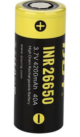 Bateria INR 26650 HIg-drain 40A 4200mAh Flat Top - IJOY