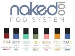 Pods (Cartuchos) c/ Líquidos - Naked 100 / Salt Nicotine - Naked 100