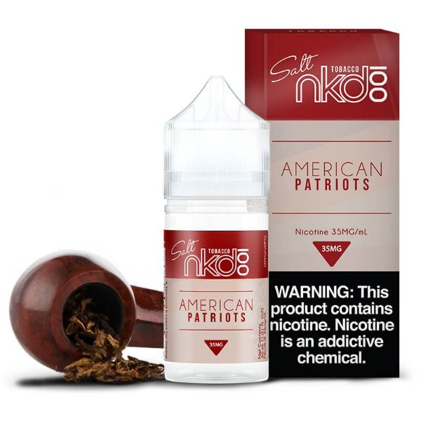 Líquido American Patriots - SaltNic / Salt Nicotine | Naked 100