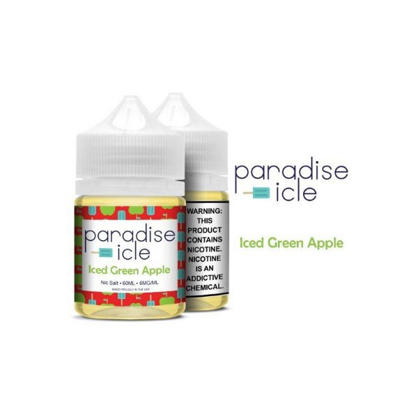 Líquido Iced Green Apple - Sub-Ohm Salt Nic - Paradise-icle