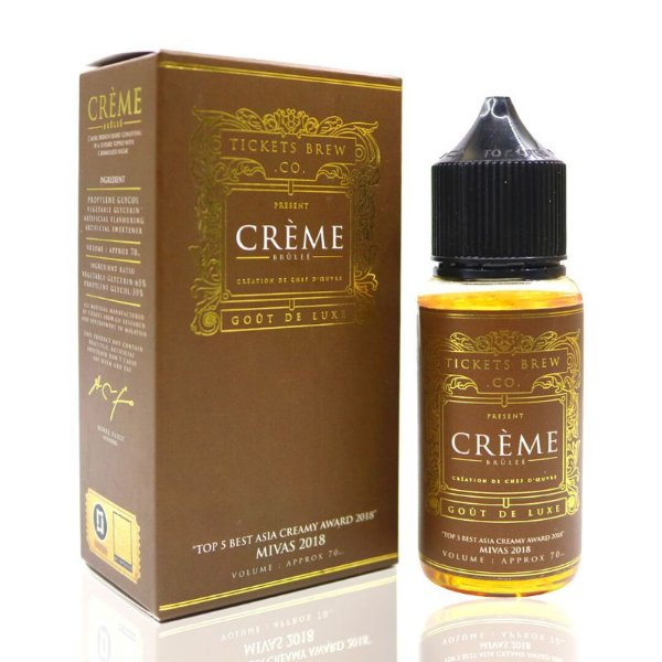 Líquido Creme Brulée - Tickets Brew.Co