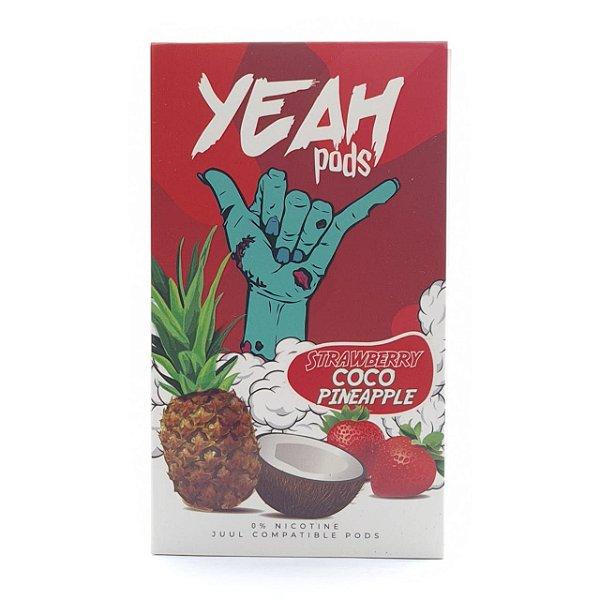 Pod (Cartucho) c/ Líquido Strawberry Coco Pineapple p/ Yoop & Juul | Yeah