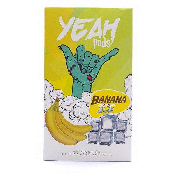 Pod (Cartucho) c/ Líquido Banana Ice p/ Yoop & Juul   Yeah