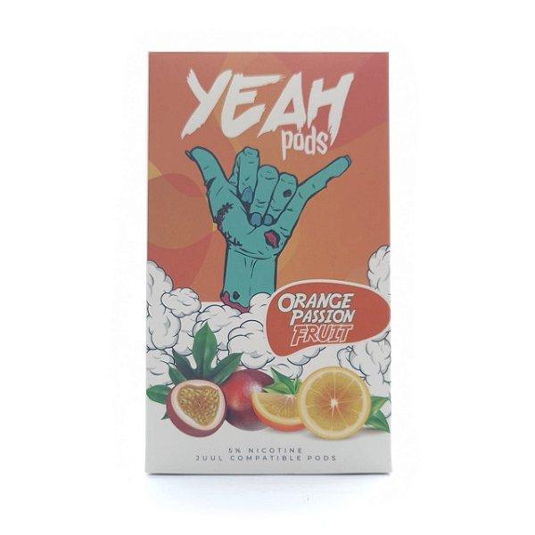 Pod (Cartucho) c/ Líquido Orange Passion Fruit p/ Yoop & Juul   Yeah