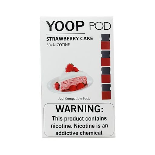 PODs c/ Líquido - STRAWBERRY CAKE - YOOP