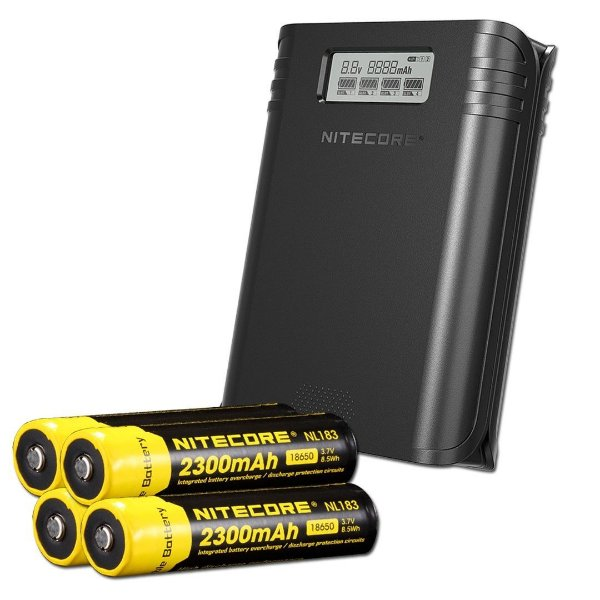 Carregador e Powerbank F4 - Nitecore®