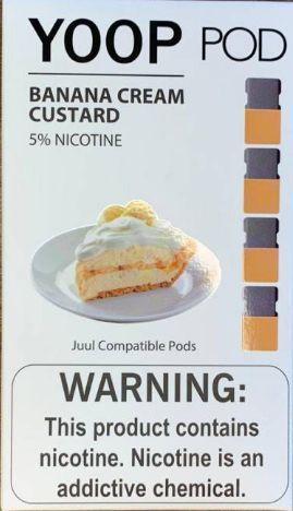 Pod (Cartucho) c/ Líquido Banana Cream Custard p/ Yoop & Juul | Yoop