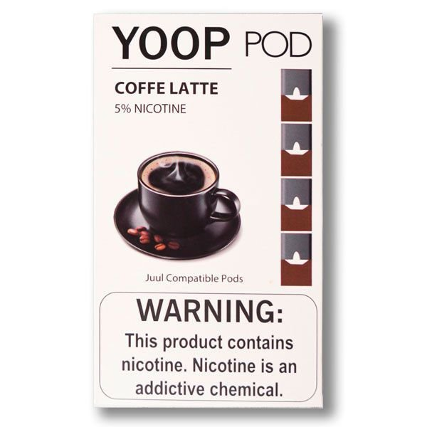 PODs c/ Líquido - COFFE LATTE - YOOP