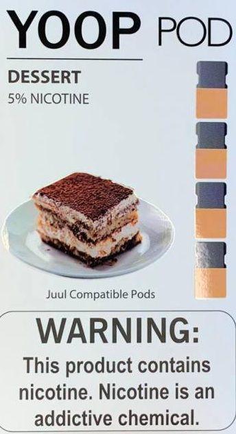 Pod (Cartucho) c/ Líquido Dessert p/ Yoop & Juul | Yoop