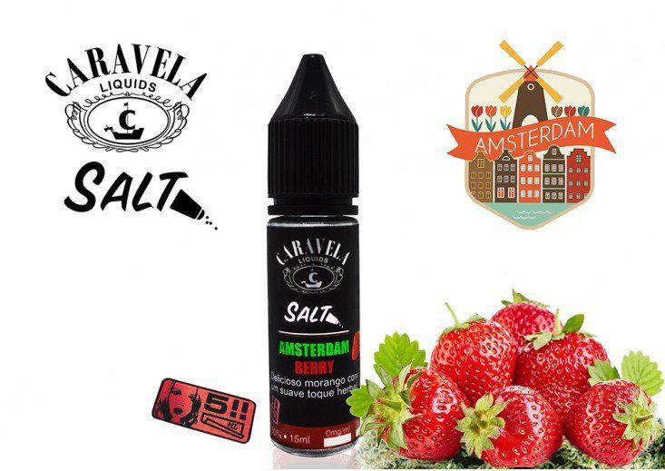 Líquido Amsterdam Berry - SaltNic / Salt Nicotine - Caravela