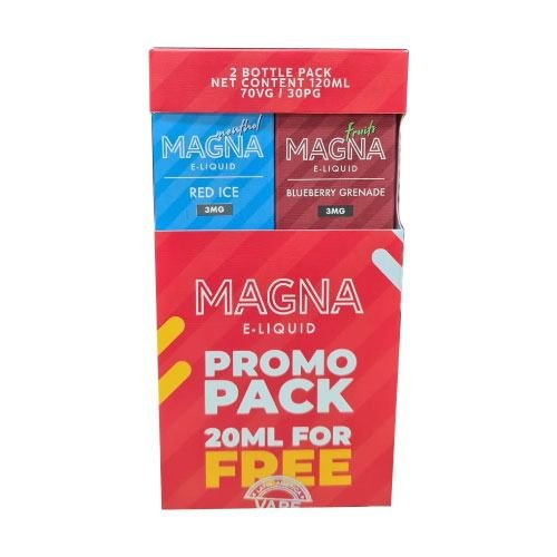 Líquido Red Ice / Blueberry Grenade (PROMO PACK) - Magna