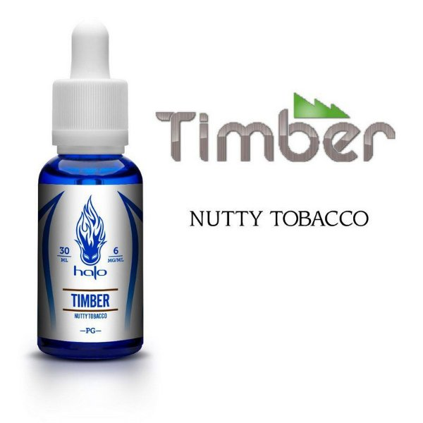 Líquido Timber Nutty Tobacco - White Series - Halo Cigs