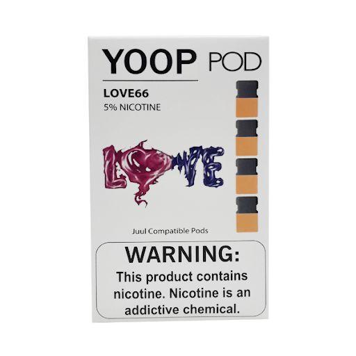 Pod (Cartucho) c/ Líquido Love66 p/ Yoop & Juul | Yoop