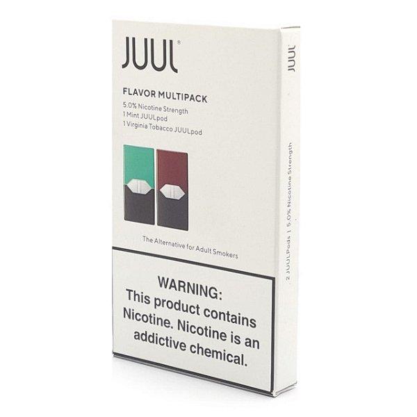 Pod (Cartucho) c/ Líquido Mint & Virginia Tobacco p/ Juul - Juul