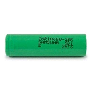 Pilha 18650 Li-Ion INR 18650 25R R5 3.6V 2500mAh High Drain 20A Flat Top - Samsung