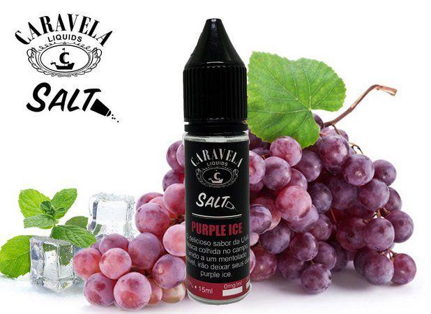 Líquido Purple Ice - SaltNic / Salt Nicotine   Caravela