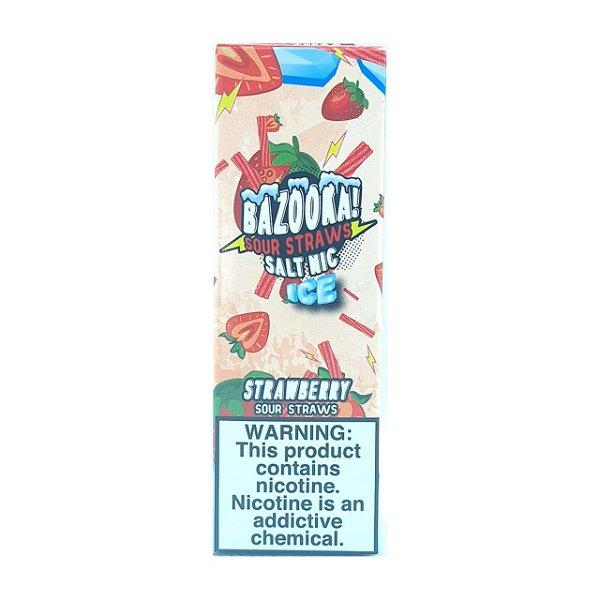 Líquido Strawberry Ice (Sour Straws) - SaltNic / Salt Nicotine   Bazooka!