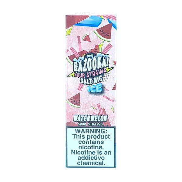 Líquido Watermelon Ice (Sour Straws) - SaltNic / Salt Nicotine | Bazooka!