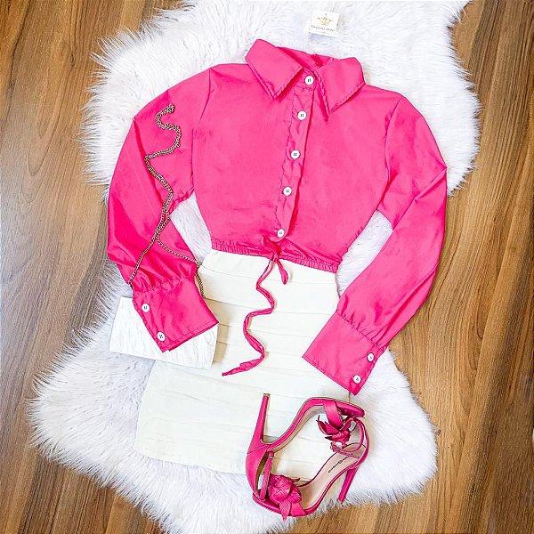 Cropped Camisa (Diversas Cores)
