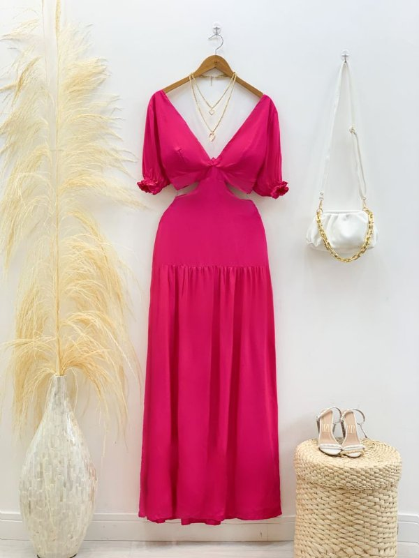 Vestido Vazado Manguinha