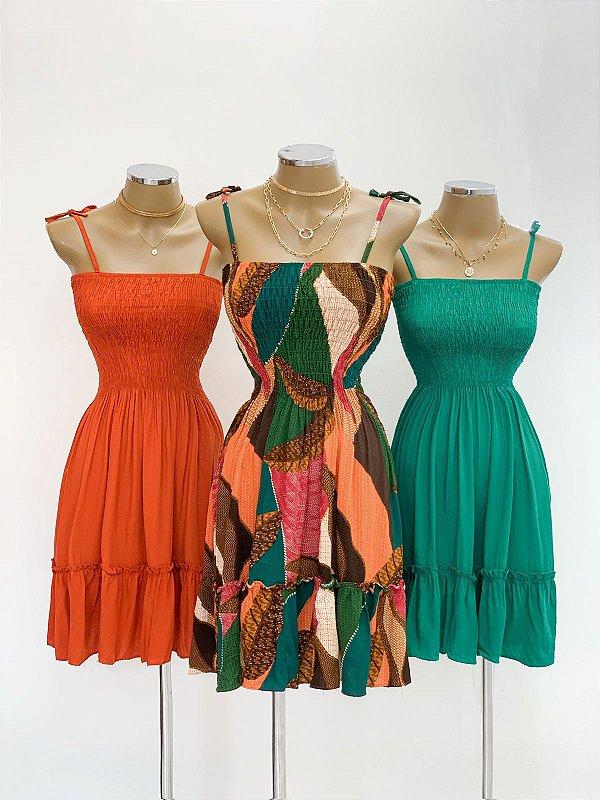 Vestido Franzido Alcinha (Diversas cores)
