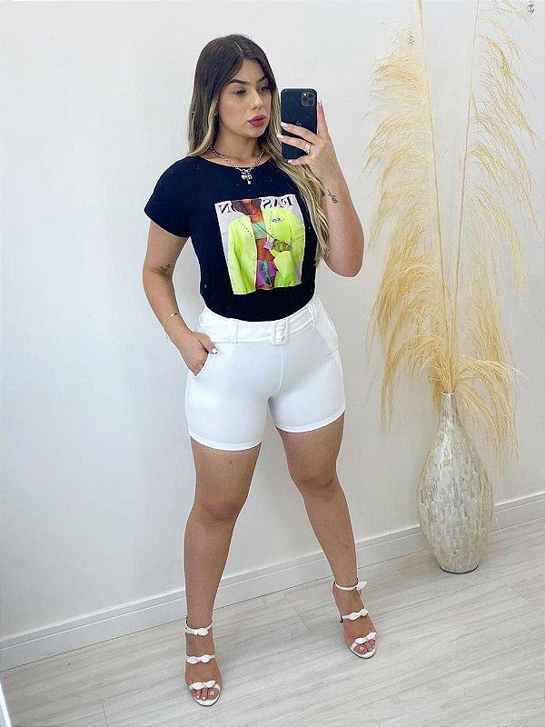 T-Shirt Estampada Plus Size
