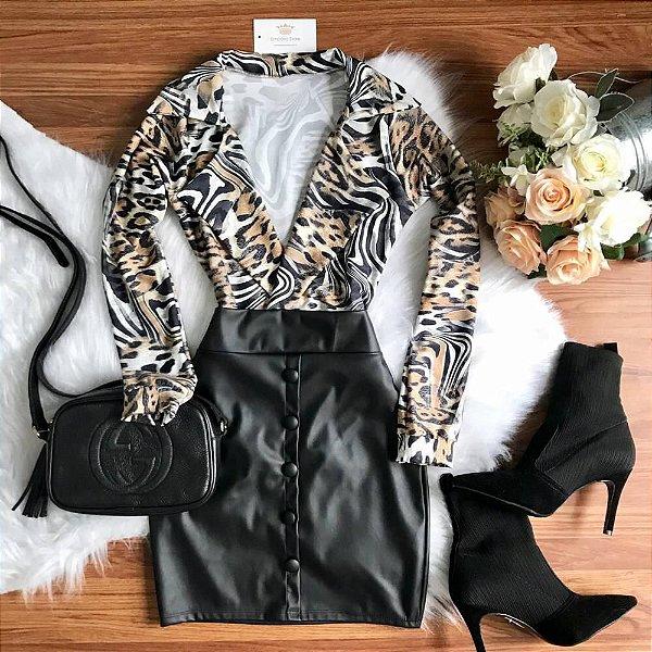 Body Camisa Animal