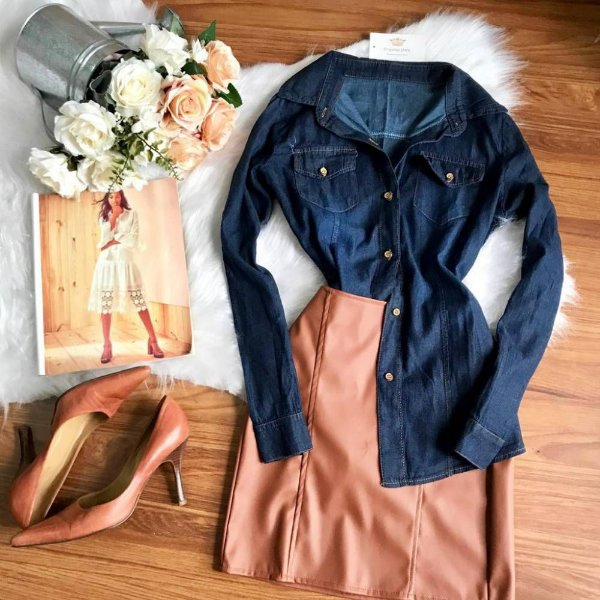 Camisa Jean Jeans