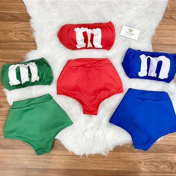 Conjunto Carnaval Hot Pants M&M's