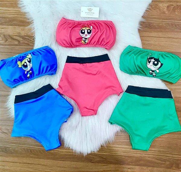 Conjunto Carnaval Hot Pants Super Poderosas