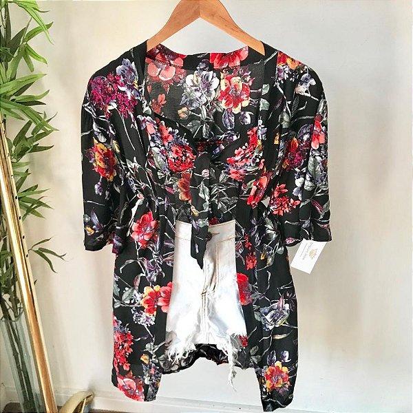 Conjunto Kimono + Cropped Viscose