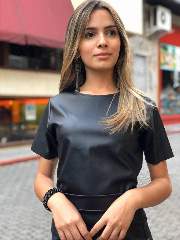 Cropped Jelena Couro Eco