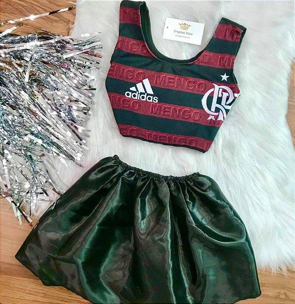 Kit Carnaval Flamengo (Cropped + Saia)