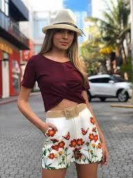 Shorts Borboleta Viscose
