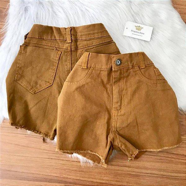 Shorts Jeans Caramelo
