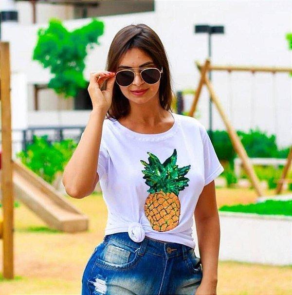 T-Shirt Abacaxi Viscomalha