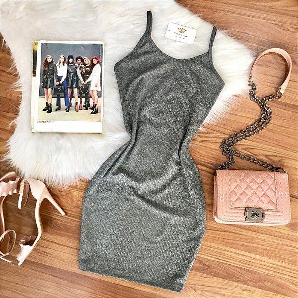 Vestido Alça Gray