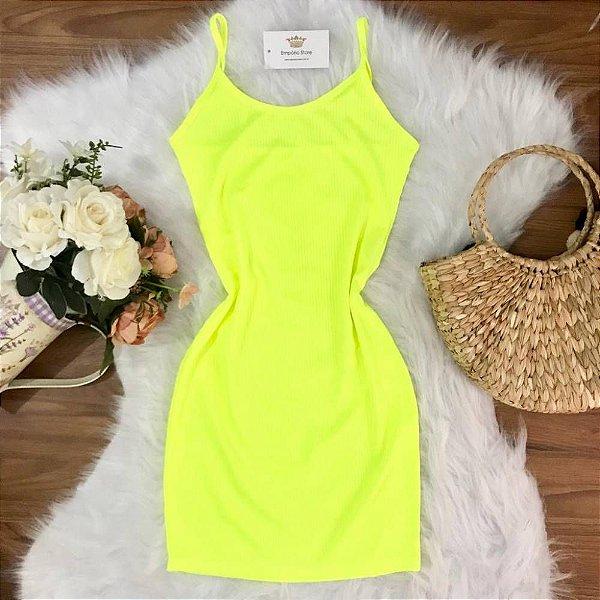 Vestido Alça Neon