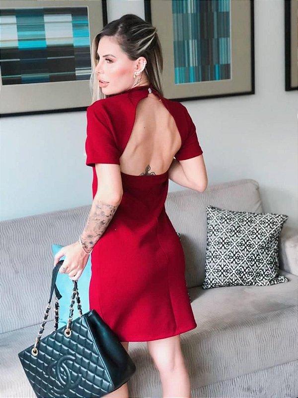 Vestido Costas Assimétrica