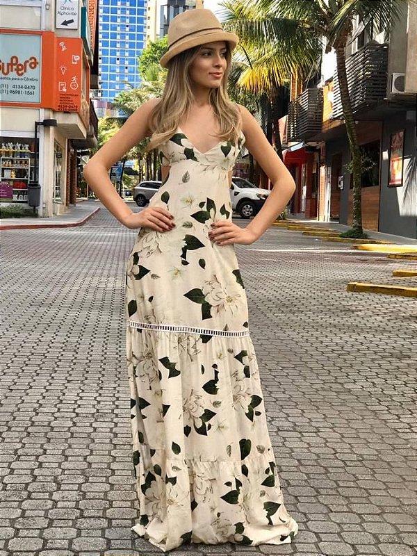 Vestido Flores Viscose
