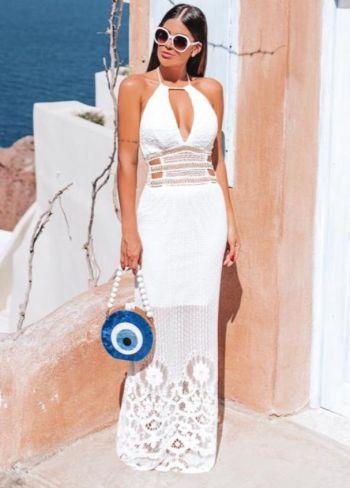 Vestido Grécia Renda Arrastão