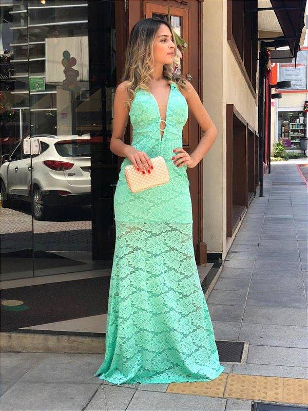 Vestido Leiry Renda Arrastão