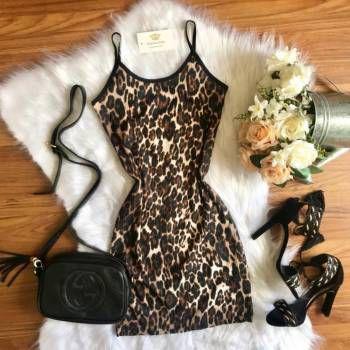 Vestido Onça Canelado