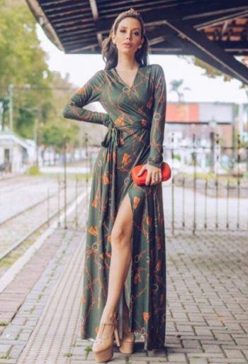 Vestido Portifole Poliamida
