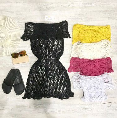 Saída Ciganinha Tricot (diversas cores)