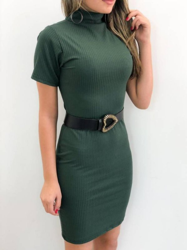 Vestido Canelado (Diversas Cores)