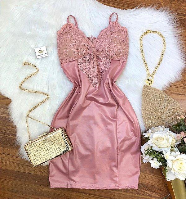 Vestido Decote c/ Renda