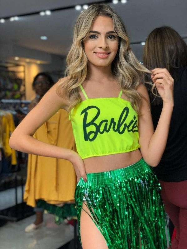 Cropped Barbie Neon