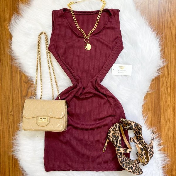 Vestido Regata Canelado