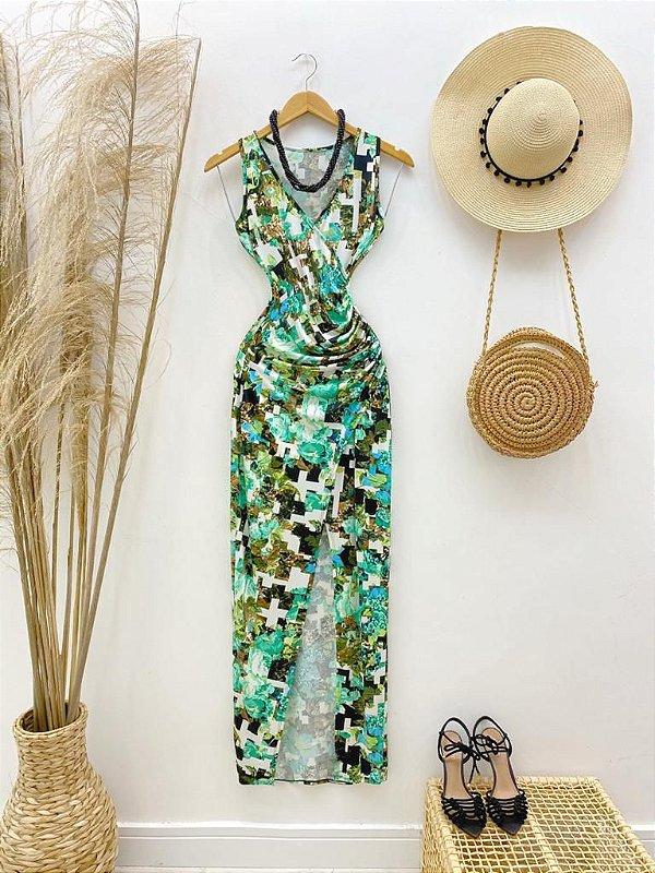 Vestido Poliamida Estampado